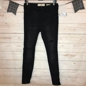 Hollister Ripped High Rise Super Skinny Jeans 7L